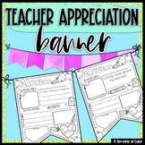 Teacher Appreciation Banner Activity