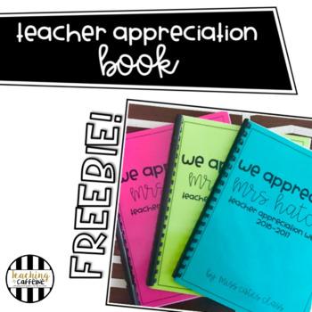 Teacher Appreciation Book FREEBIE