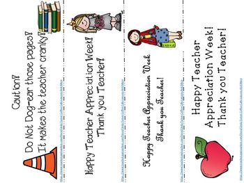 Teacher Appreciation BookMark Freebie
