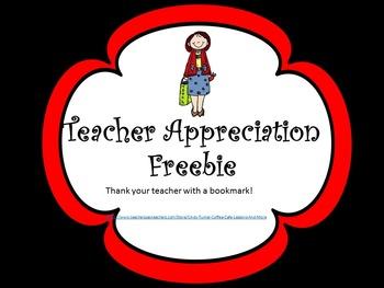 Teacher Appreciation BookMark Freebie
