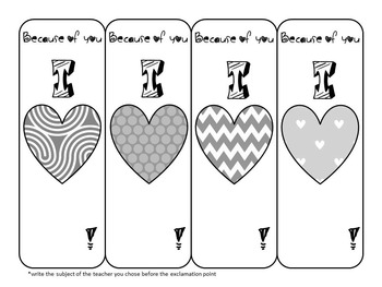 Teacher Appreciation Bookmark