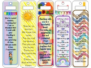 """Teacher """"End of Year"""" Bookmarks"""
