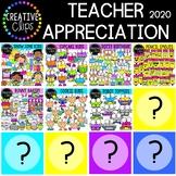 Teacher Appreciation Bundle 2020 ($50.00+ Value!!) {Creative Clips Clipart}