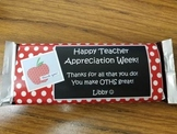 Teacher Appreciation Candy Bar Wrappers
