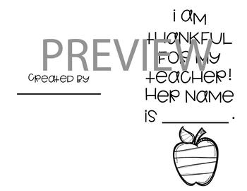 Teacher Appreciation Card **A FREEBIE**