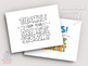 Teacher Appreciation Card - PRINTABLE - Color & BW you color!