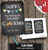 Teacher Appreciation Card - Smart Cookies - Editable