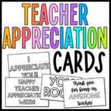 Teacher Appreciation Cards