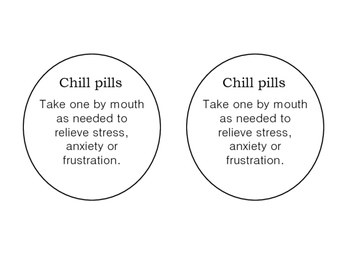 graphic about Chill Pill Printable Label named Chill Tablet Worksheets Coaching Components Lecturers Pay out