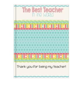 Teacher Appreciation Class Book