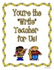 Teacher Appreciation Class Book {Freebie}