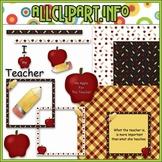 $1.00 BARGAIN BIN - Teacher Appreciation Clip Art