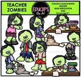 Teacher Zombies Clip Art Bundle {Educlips Clipart}