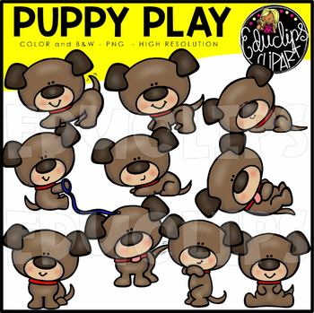 Puppy Play Clip Art Bundle {Educlips Clipart}