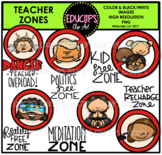 Teacher Zones Clip Art Bundle {Educlips Clipart}