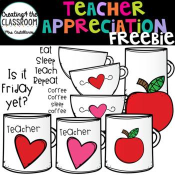 Teacher Appreciation Clip Art {Teacher Freebie}