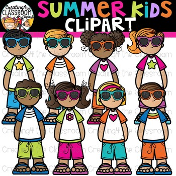 Summer Kids Clipart {Creating4 the Classroom}