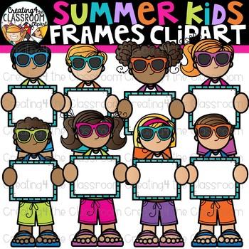 Summer Kids Frames Clipart {Creating4 the Classroom}
