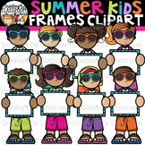 Summer Kids Frames Clipart {Creating4 the Classroom}