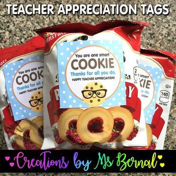 Teacher Appreciation Cookie Labels