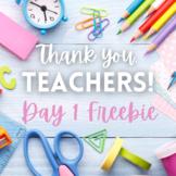 Teacher Appreciation Day 1 Freebie: More Time Visual