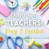 Teacher Appreciation Day 2 Freebie: Apology Visual