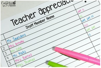 FREE Teacher Appreciation Day