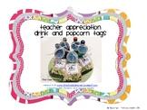 Teacher Appreciation Drink and Popcorn Tags FREEBIE