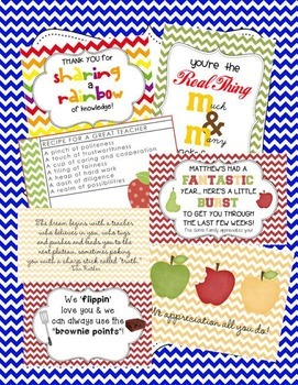 Teacher Appreciation / EOY Tags BUNDLE