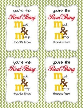 Teacher Appreciation / You're the Real Thing