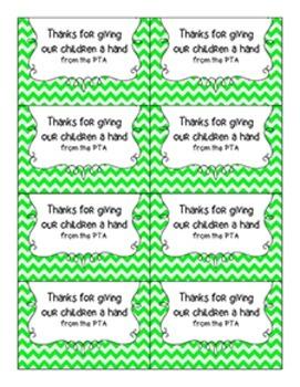 Teacher Appreciation / EOY Tags {PTA | PTO}