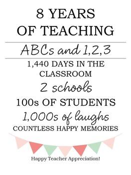 Teacher Appreciation Editable