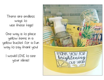 Teacher Appreciation End of the Year Tags