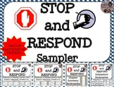 "Teacher Appreciation Week FREEBIE: ""Stop and Respond"" Graphic Organizers Sample"