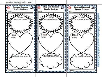 "Teacher Appreciation Week FREEBIE: ""Stop and Respond"" Graphic Organizers Sample"