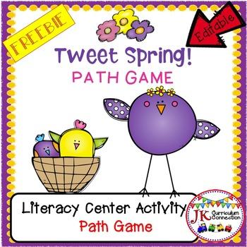 FREEBIE! Tweet Spring Path Game {EDITABLE}