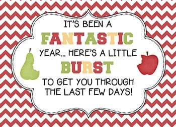 Teacher Appreciation / Fantastic Year