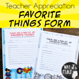 Teacher Appreciation: Favorite Things Superhero theme form
