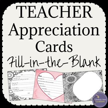 Thank You Cards for Teacher Appreciation