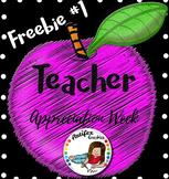 Teacher Appreciation Freebie -Day1-