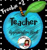 Teacher Appreciation Freebie -Day 2-