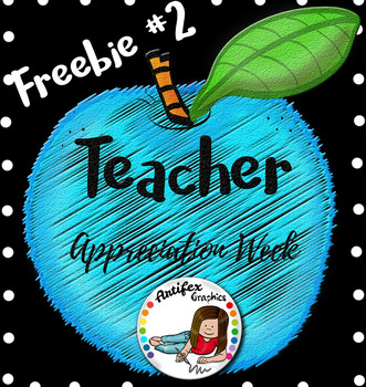 Teacher Appreciation Freebie -Day 2-