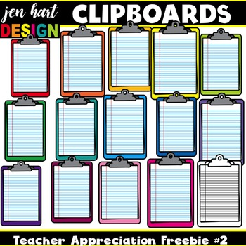 Teacher Appreciation Freebie #2 {Clipboards}