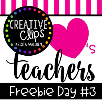 Teacher Appreciation Freebie #3 {Creative Clips Digital Clipart}
