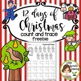 12 days of Christmas Count and Trace (FREEBIE)