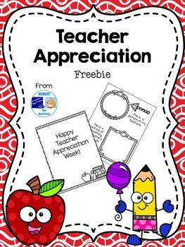 Teacher Appreciation Freebie