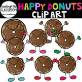 Happy Donuts Clip Art
