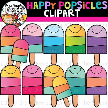 Happy Popsicles Clip Art