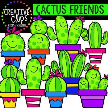 Cactus Friends {Creative Clips Digital Clipart}