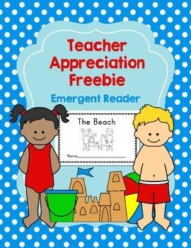 Teacher Appreciation Freebie: Beach Emergent Reader